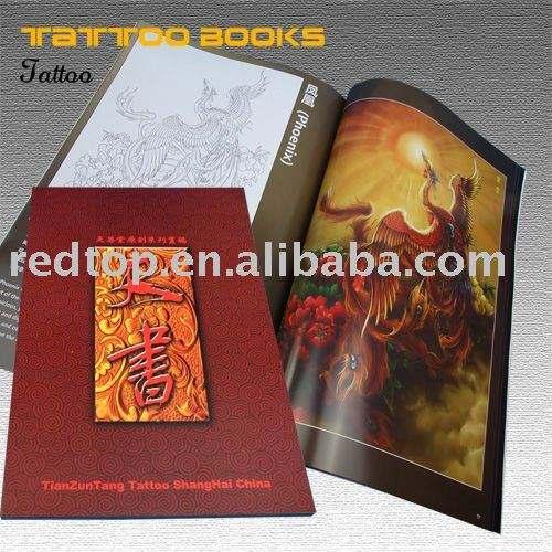 alte chinesische Siegelbuch-Tätowierungkunst, Tätowierung book& picture&design