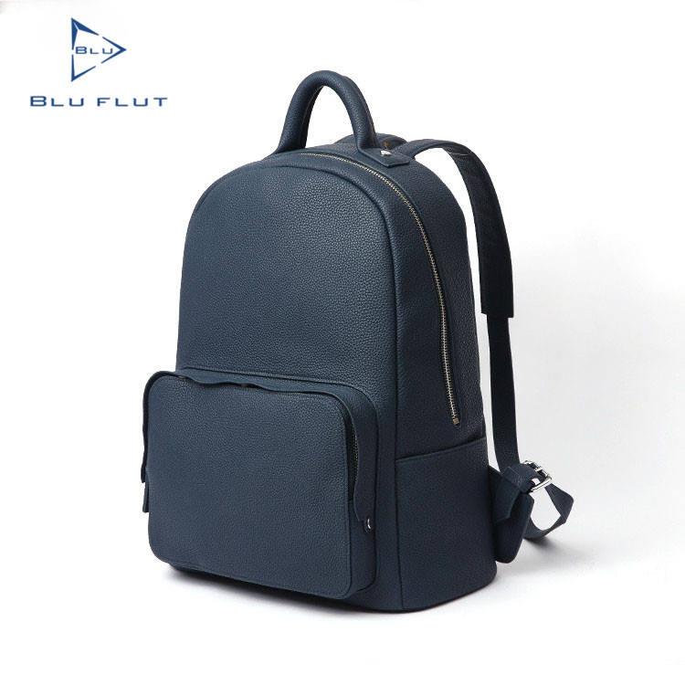 Полное зерно кожа черный пользовательские кожаный рюкзак, настроить изображения рюкзак