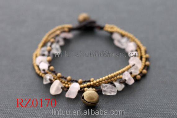 2016 Hot Sale Da Moda Mulheres Handmade Estiramento Esmagado Pedra Natural Bracelete de Cristal Do Grânulo