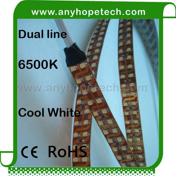 ultra brillante precio barato 1200 leds por dc24v rollo de doble tira de luz led del sensor de movimiento