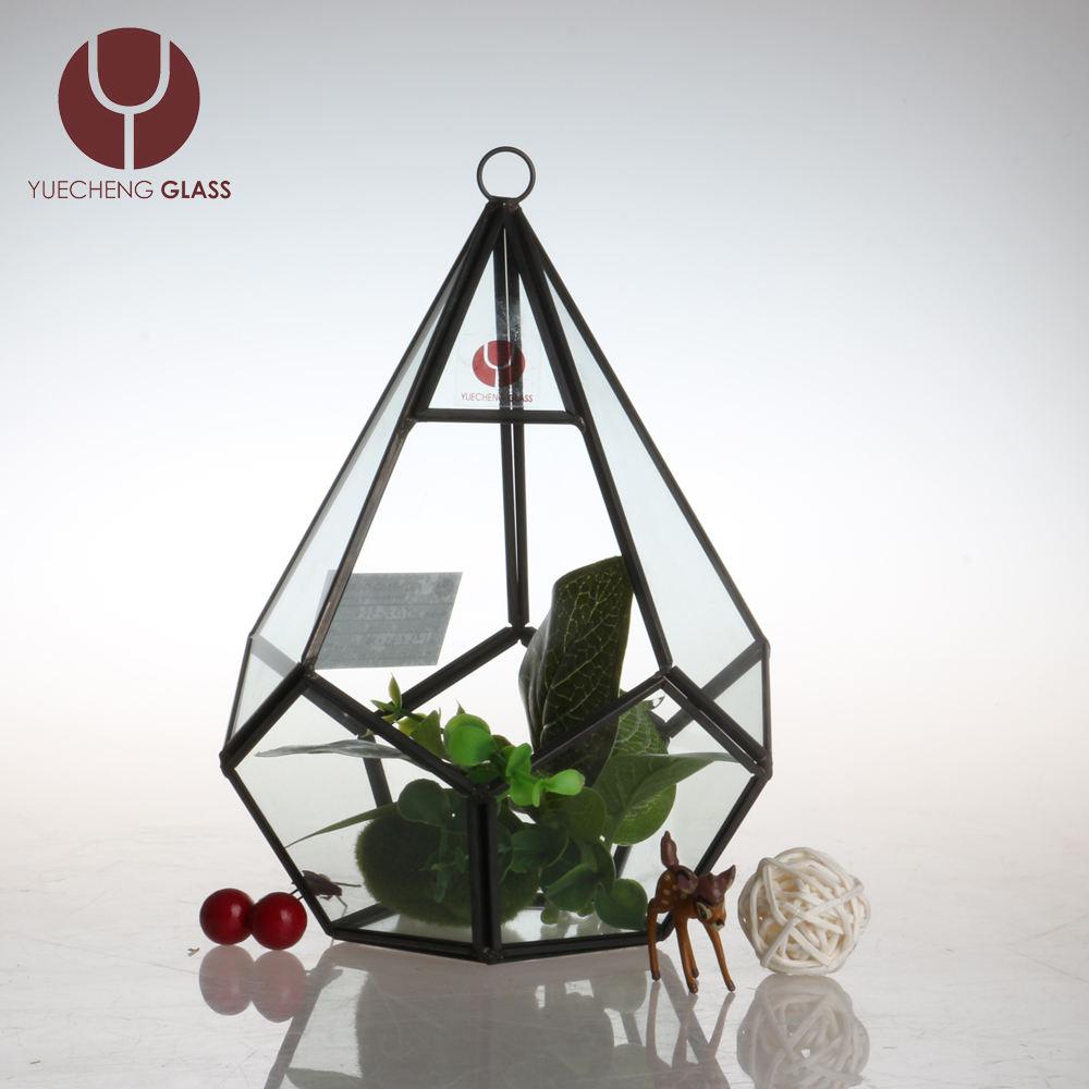 Chine de mariage usine géométrique vase en verre terrarium l'écosystème chambre avec succulentes