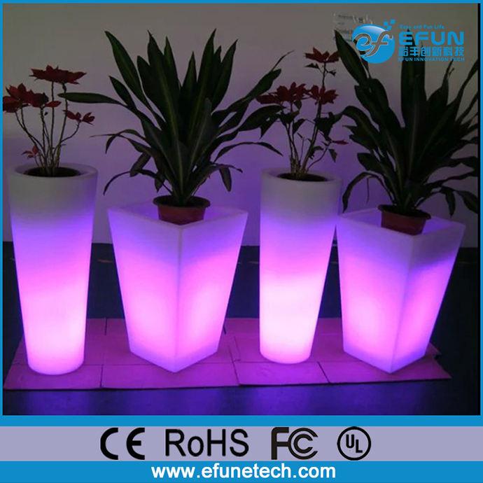 внешний / внутренний из светодиодов плантатор горшок, украшения из светодиодов ваза для цветов света