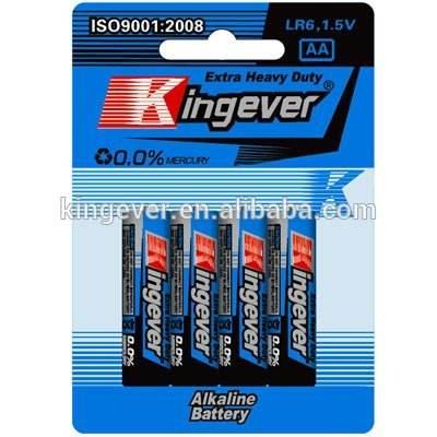 Carta della bolla batteria alcalina <span class=keywords><strong>lr6</strong></span>/<span class=keywords><strong>aa</strong></span>