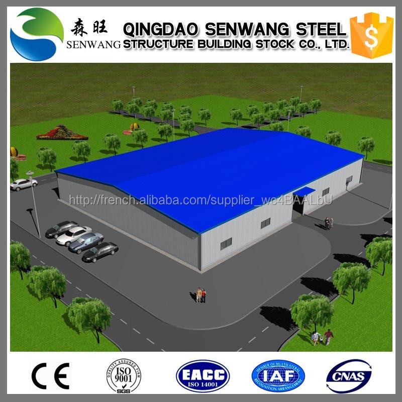 Large Span entrepôt de l'atelier Structure en acier à vendre