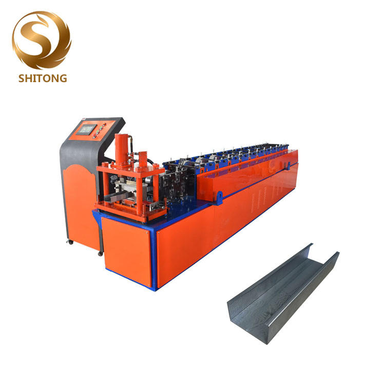 Drywall metal stud and track U channel roll forming making machine