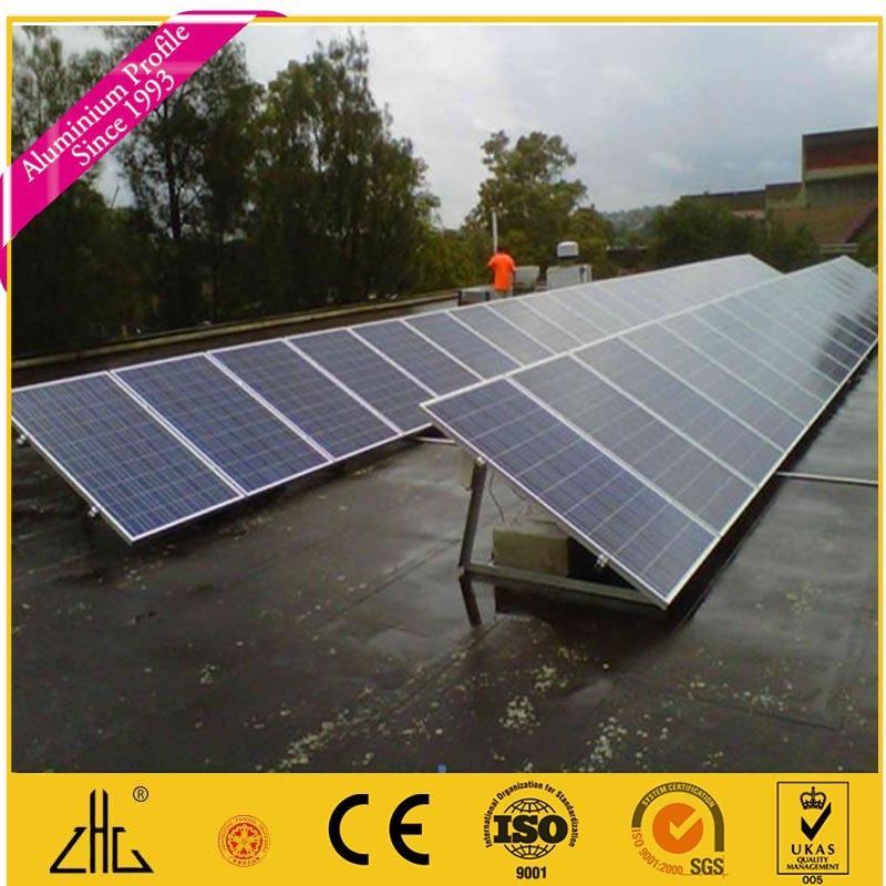 Venda quente moldura do painel Solar perfil de alumínio para a moldura do painel Solar alumínio perfil