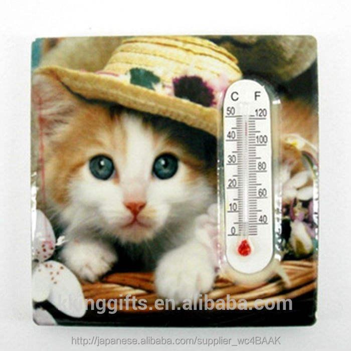 愛らしい動物のデザインの磁気アルコール温度計温度や牛乳/グリル温度計冷蔵庫用マグネット