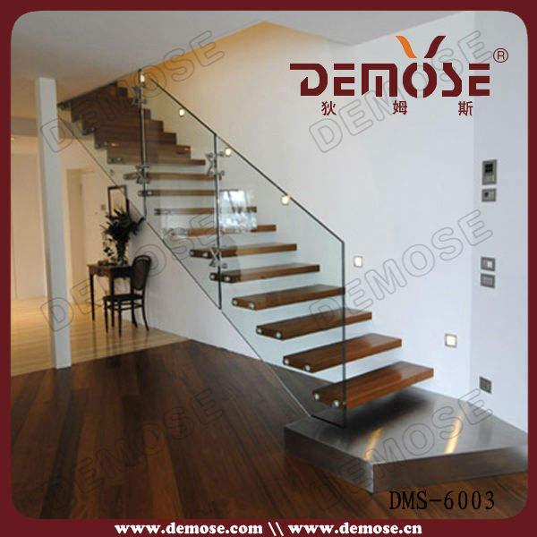 フローティングストリンガー佛山隠されたdiyフローティングstairs stairs 木製の階段のガラスの手すり