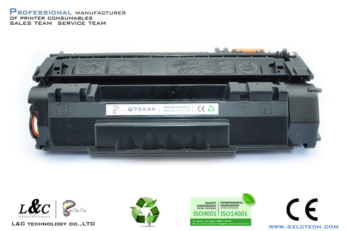 importation de fournitures de bureau de la Chine cartouche imprimante usine 53a toner