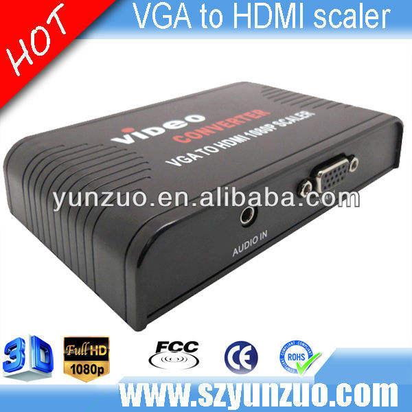 El mini vga de alta calidad al convertidor de HDMI 1080p escalador, fuente de la fábrica