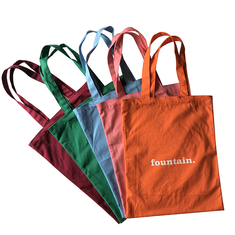 Customized Logo and Design Acceptable Eco Friendly Multi Colors 100% cotton Canvas Tote handbag