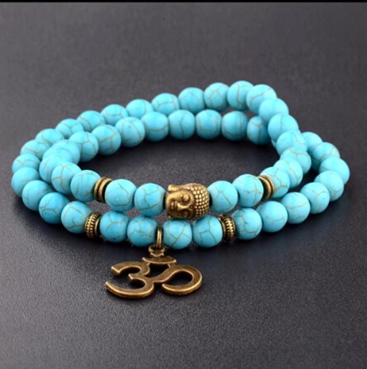 Religion Buddha Hiduism Yoga Charm Cat Eye <span class=keywords><strong>Perlen</strong></span> Tiger Eye <span class=keywords><strong>Perlen</strong></span> Türkis Steine <span class=keywords><strong>Perlen</strong></span> Armband