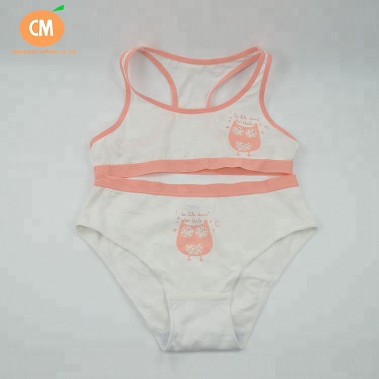 CM-G-UW-008 OEM детей нижнее белье трусики Комплект для девочек мягкий жилет нижнее белье для детей