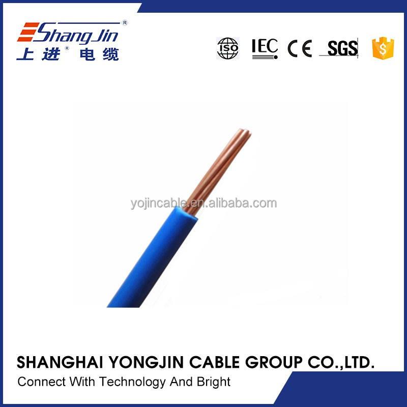 2017 nouveau PVC isolation conducteur en cuivre 600 V fils de bâtiment