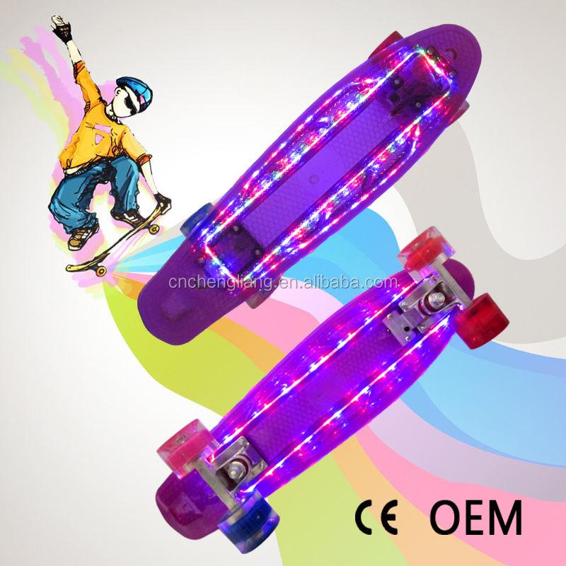 hochwertige individuelle led leuchten im dunkeln leuchten longboard skateboard hersteller