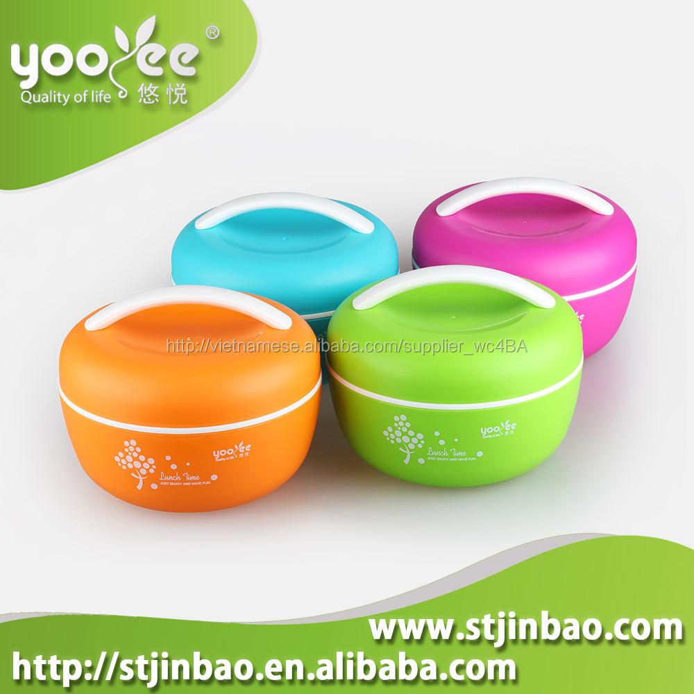 yooyee 407 táo hình dạng nhựa hộp ăn trưa Trung Quốc nhà sản xuất