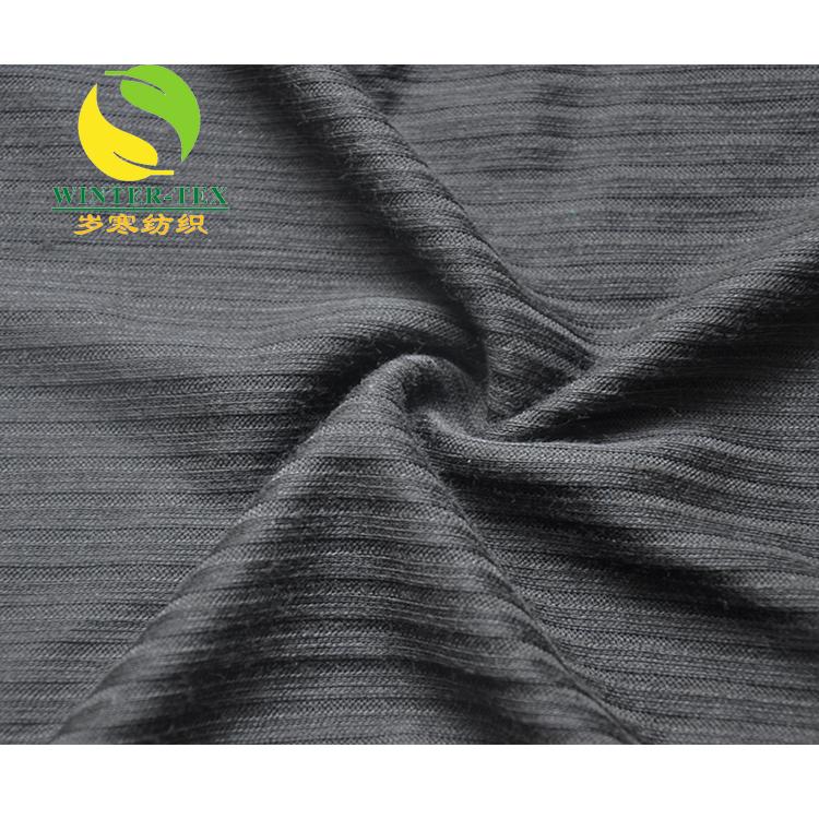 China Fabricante de poliéster costela tecido de malha atacado tecido de poliéster