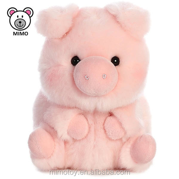 2019 Chinese New Year Mascot Plush Toy Pig For Kids Adorable Custom OEM Stuffed Farm Animal Soft Pink Baby Pig Toy