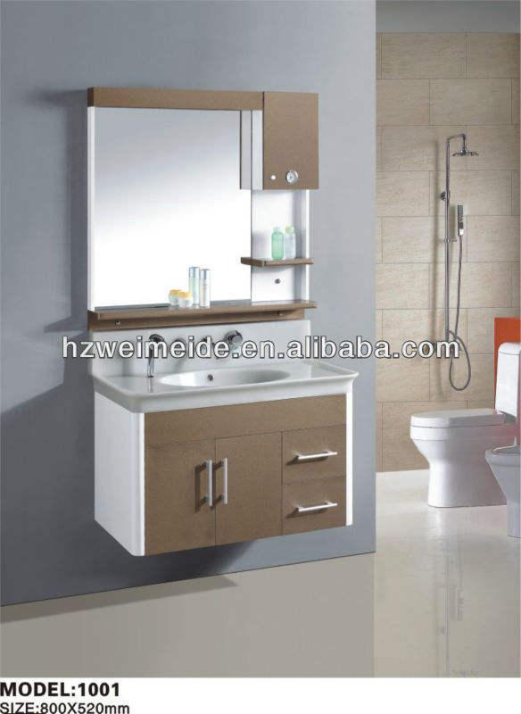 China venda quente pvc armário do banheiro para o banheiro WMD-1001 em Construção & Real Estate