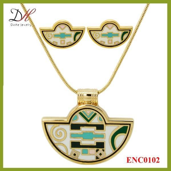 Daihe ENC0102 2015 оптовая продажа custome женщины комплект ювелирных изделий, ожерелье комплект ювелирных изделий