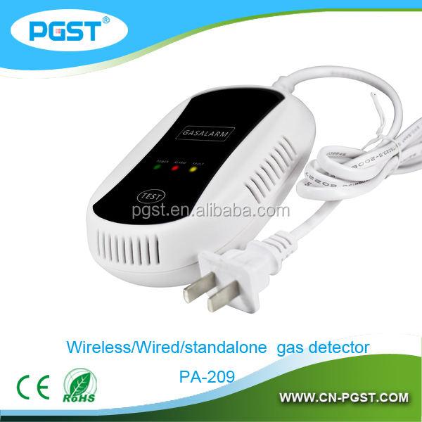 Беспроводной 433 мГц lpg детектор утечки газа для домашней системы безопасности, CE / RoHS