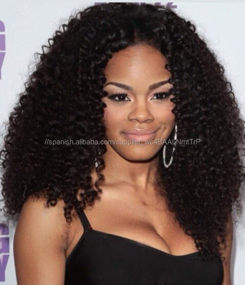 Rizado <span class=keywords><strong>pelucas</strong></span> delanteras de encaje para las mujeres negras de alta calidad cabello humano rizado <span class=keywords><strong>pelucas</strong></span> en venta