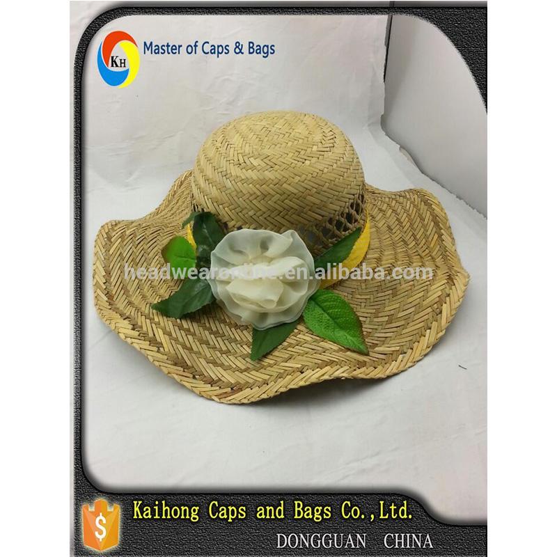 El yapmak frowers hasır şapka/caz hasır şapka