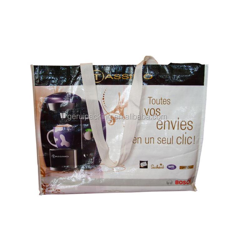 Da China grande qualidade e durável tecido pp sacos de compras de lazer