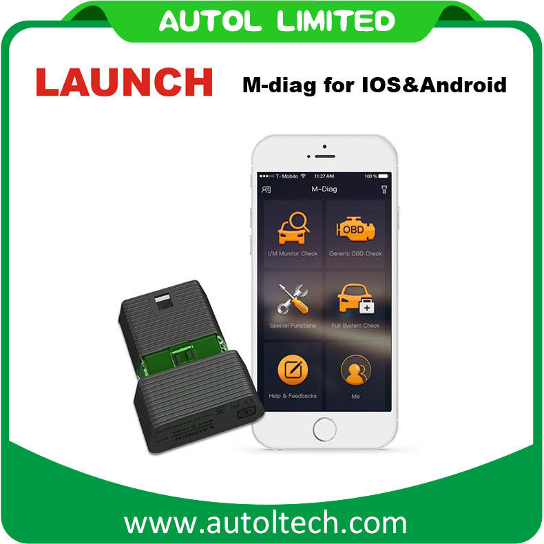 <span class=keywords><strong>Запуск</strong></span> м-diag для IOS и Android-OBDII диагностический инструмент Поддержка Нескольких автомобилей диагностический сканер