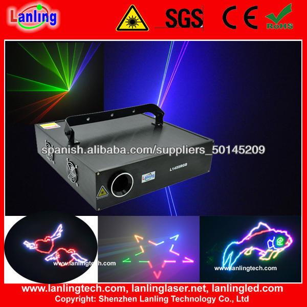 Nueva llegada 1w todo color de luz laser de la animación Mostrar