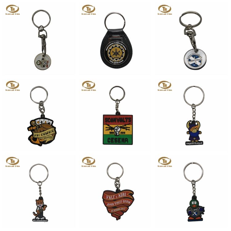 High quality custom logo metal keychain souvenir fancy keychain