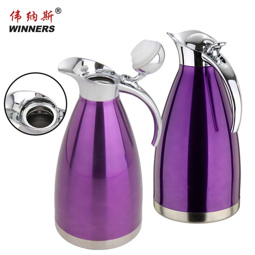 China 304 Acero inoxidable té termos 2 litros termo puede para la familia