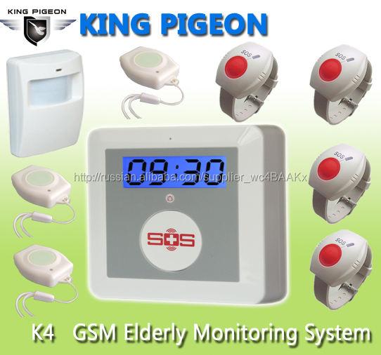 Сигнализация для дистанционного пожилое guarder wirelss gsm sms пожилой мониторинг сигнализации пульт дистанционного gsm k4