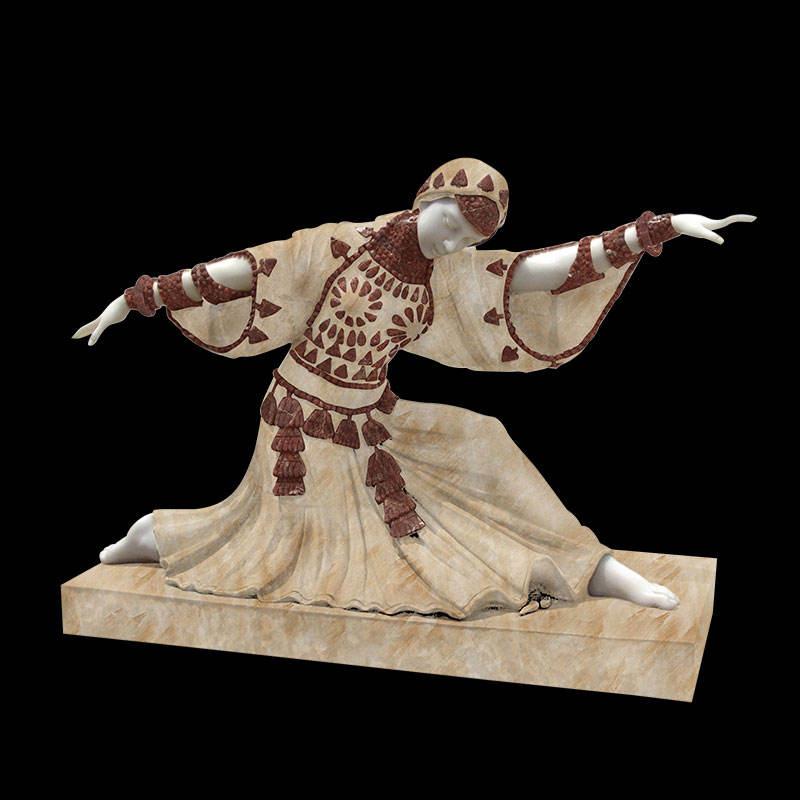 Завод прямые поставки западной <span class=keywords><strong>поп</strong></span> резной смешанные мрамор танец женщина статуи