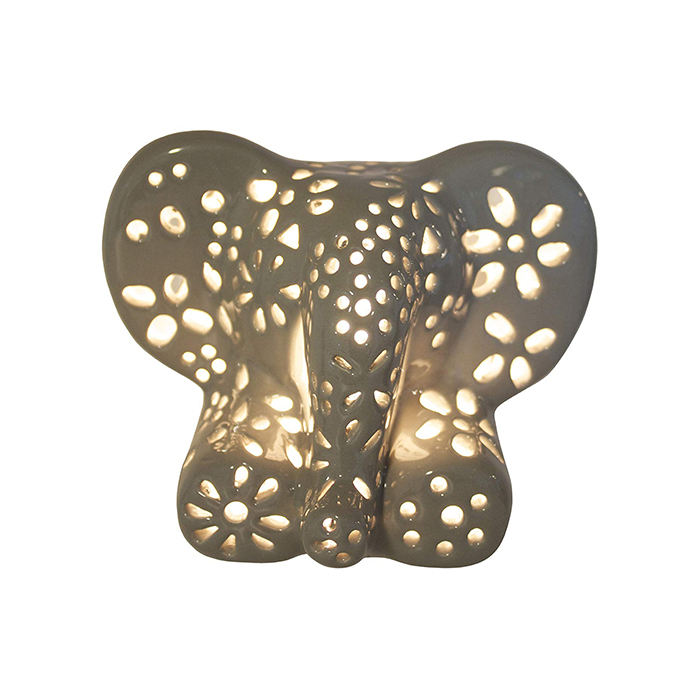 GUANHONG Christmas Small Elephant Ceramic Baby Night Light