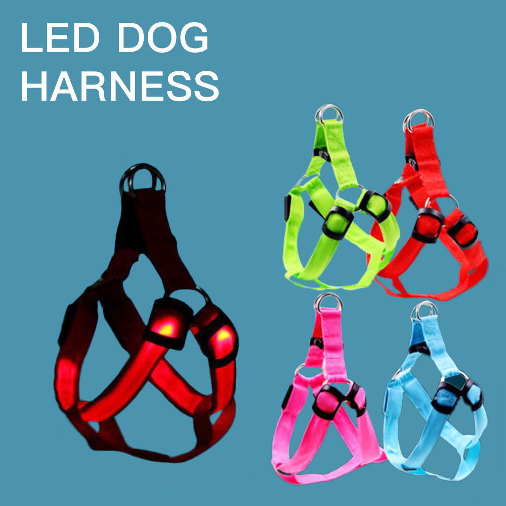 wholesale manufacturer custom outdoor nylon adjustable rechargeable led dog harness