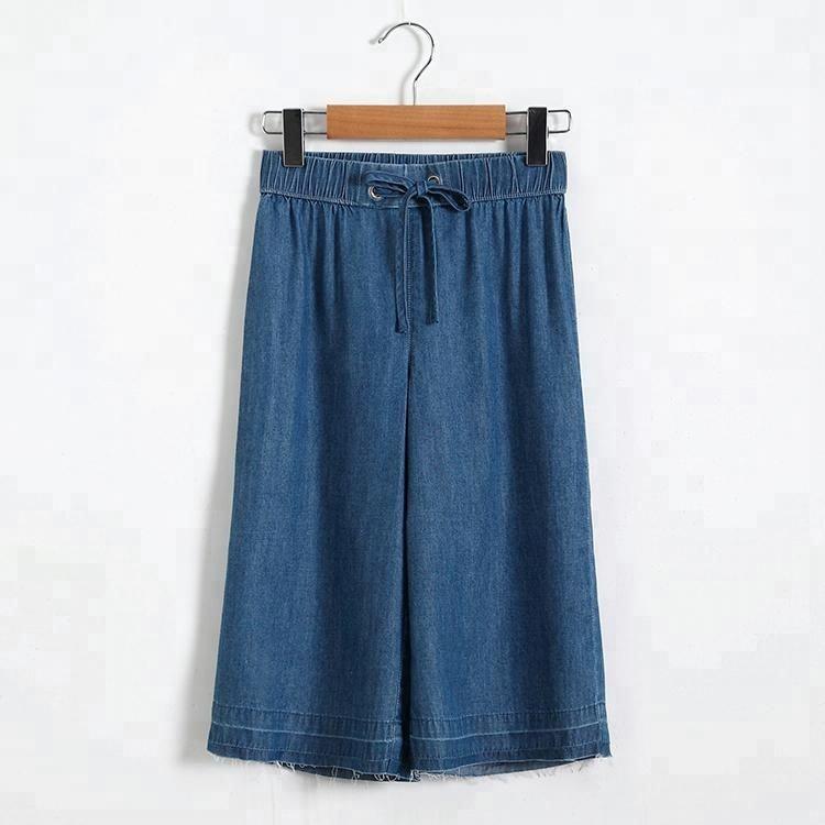 Повседневные свободные рваные подол джинсовые шорты для детей от 2 до 8 лет для девочек