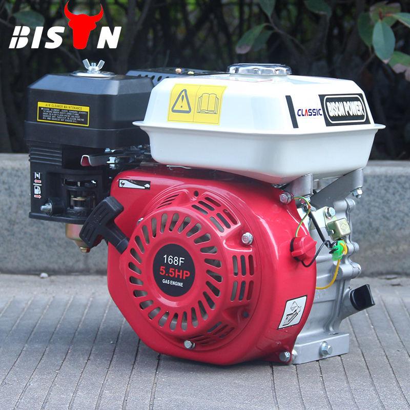 Bs168fh rouge BISON chine Taizhou 4-temps 5.5hp petit pas cher à essence moteur à essence 168f