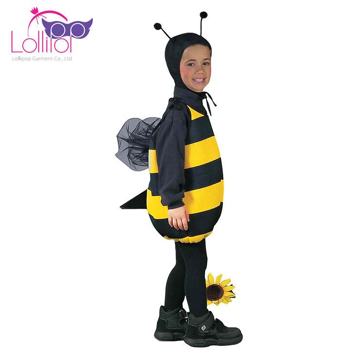Cadılar bayramı karnaval çocuklar bumblebee cosplay arı kostüm