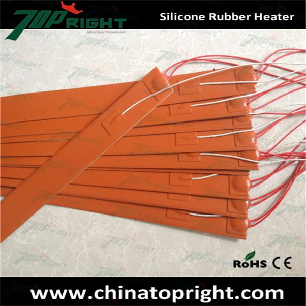 Borracha de Silicone aquecedor solar produzido portátil aquecedor calor flexível tira 12 v
