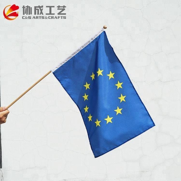 Полиэстер рука Развевающийся Флаг