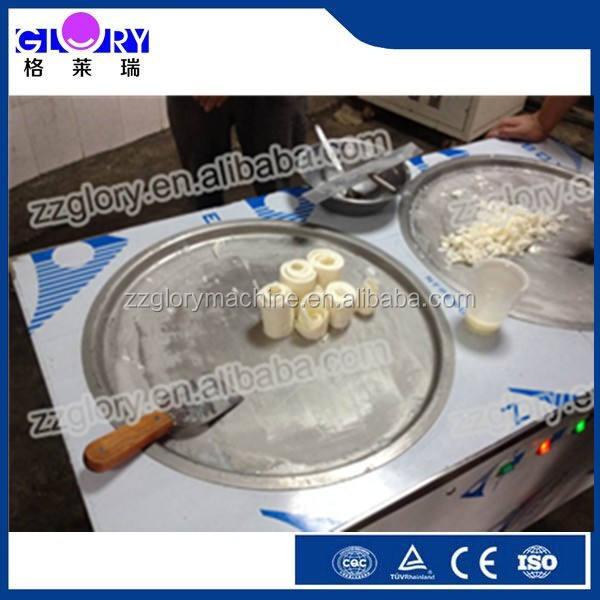 Sartén de hielo / máquina de alta calidad en acero inoxidable 2 pan durable fry helado máquina