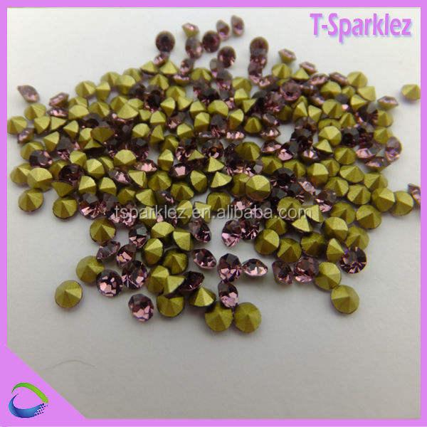 shinning <span class=keywords><strong>strass</strong></span> pietra rosa chatons 888 per gli accessori