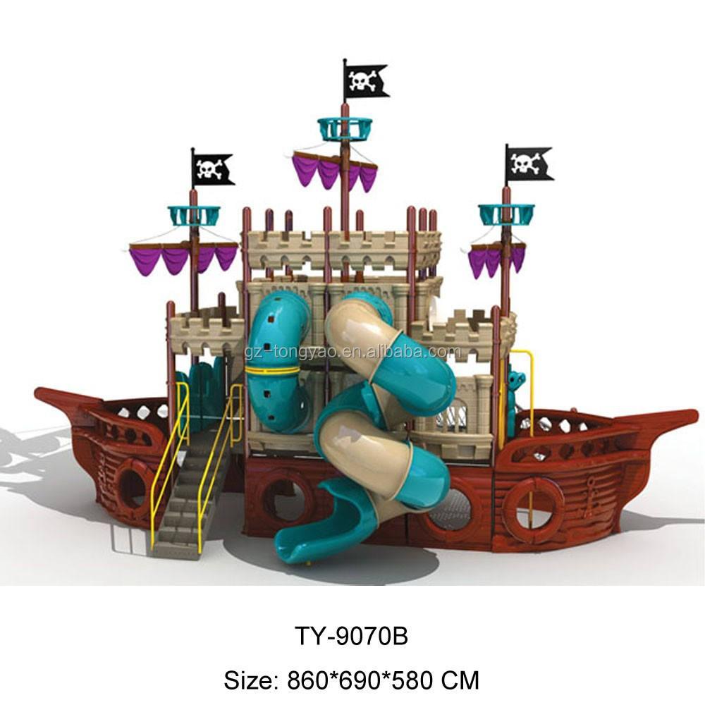 Plástico tipo de diapositivas niños barco pirata Al Aire <span class=keywords><strong>Libre</strong></span> <span class=keywords><strong>Parque</strong></span> comercial para al aire <span class=keywords><strong>libre</strong></span>