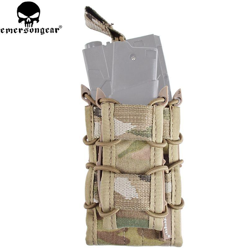 EMERSONGEAR 더블 데커 매기 파우치 권총 소총 몰리 잡지 파우치 M4 M16 AK G 잠금 1911 멀티캠 블랙 EM6346