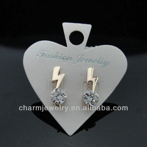 2013 novo design de moda shinning cz brincos est-011