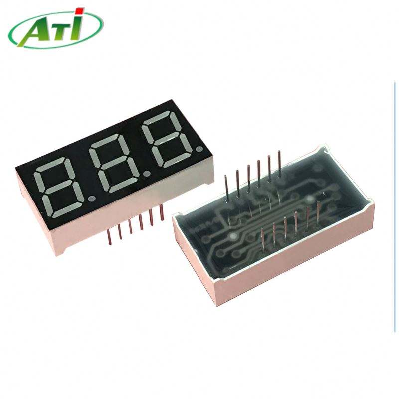 Super red 0.56 inch 7 segment led display 3 digit ATI 5631 bsr for voltmeter