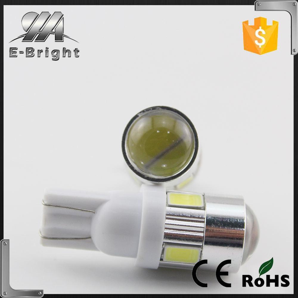 Супер Яркость 12 В T10 5730 6smd Автомобильные Светодиодные Включите свет Номерного знака Лампа С Линзой