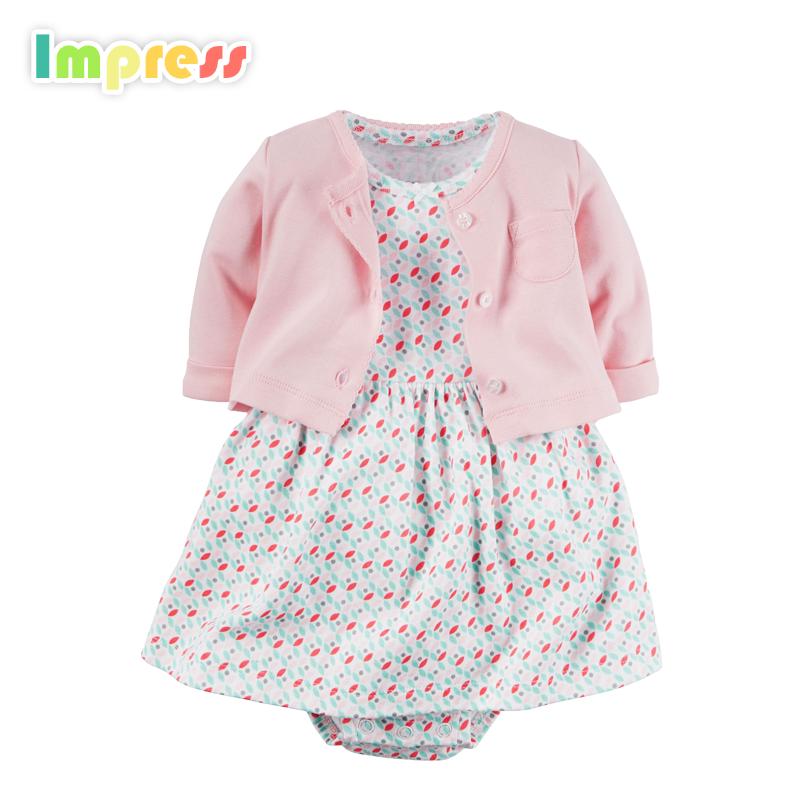 0-24 Месяцев детская одежда 100% хлопок carters детские боди платье