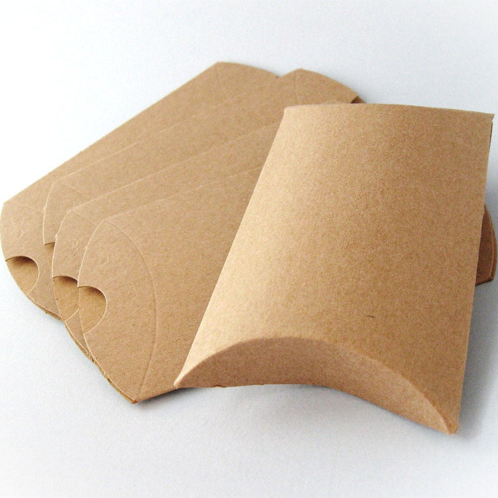 Different Size and Printing Die Cut Rigid Kraft Paper Packaging Pillow Gift Box